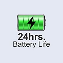 Up to 24 hours of battery life