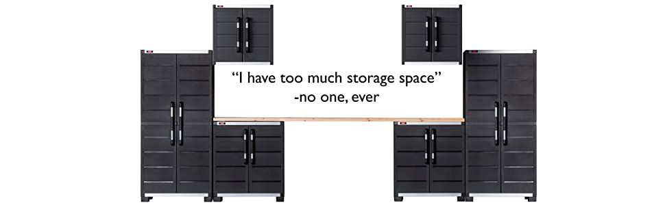 Keter Ready To Assemble XL Pro Garage System Utility Tool Storage ...