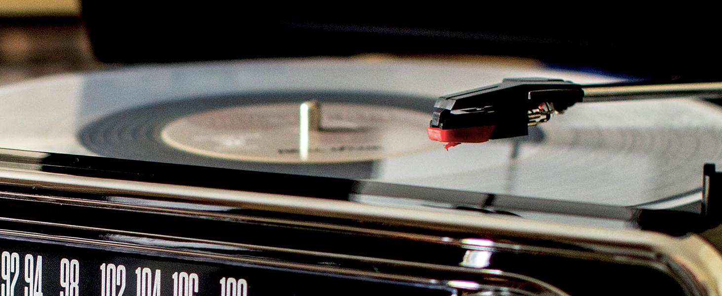 ION Audio Mustang LP - Centro de Música 4-en-1 con Diseño de Radio ...