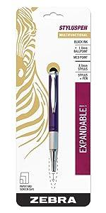 screen and paper friendly pens, stylus pen telescopic ballpoint pen, zebra multifunction pens