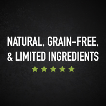 Natural, grain free, and limited ingredients