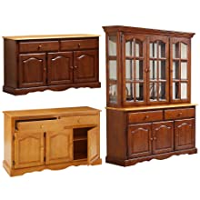 hutch,buffet,storage,china cabinet,lighted hutch,display cabinet,dining storage,plate grooves,oak