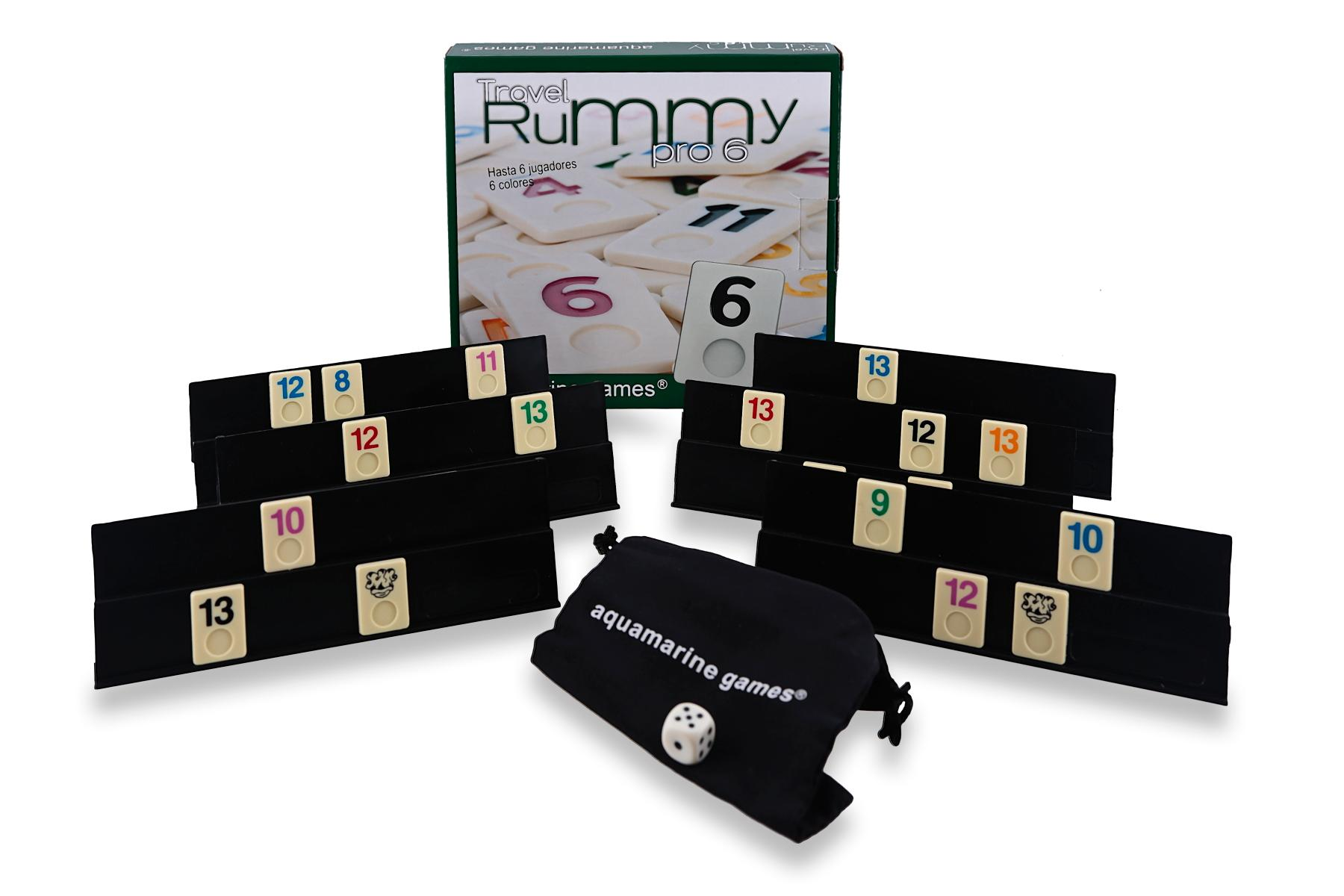 Aquamarine Games - Travel Rummy, Juego de Mesa para 6 Jugadores ...
