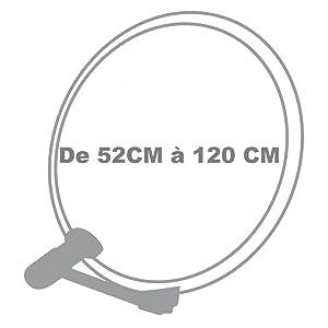 metronic 498150 kit parabole acier 60cm t te de parabole lnb universelle eurasis blanc. Black Bedroom Furniture Sets. Home Design Ideas