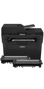 Brother Compact Monochrome Laser All-in-One Multi-function Printer, MFCL2750DWXL Extended Print, Up to Two Years of Printing Included, 2.7-Inch Color ...