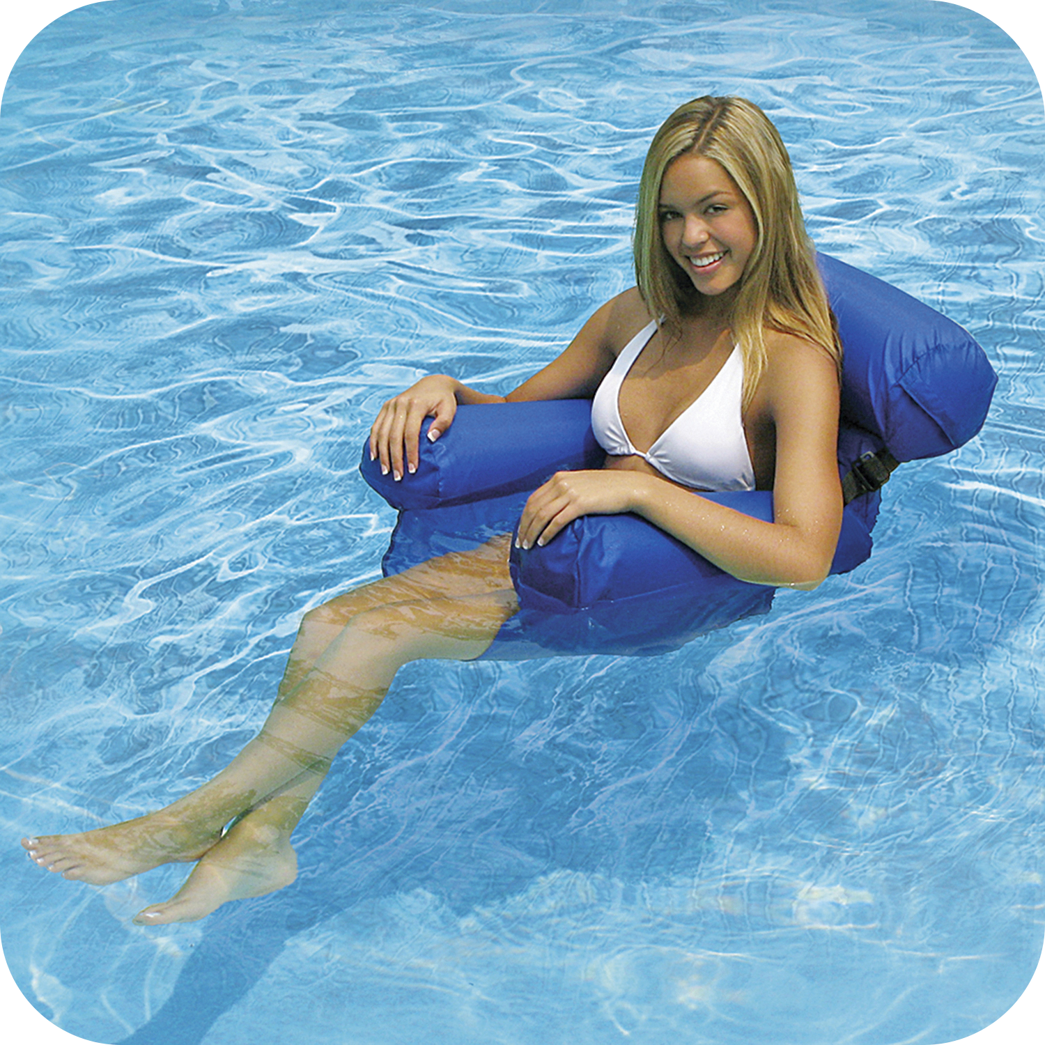 Poolmaster Water Chair 37 inch x 32 inch Pool Loungers