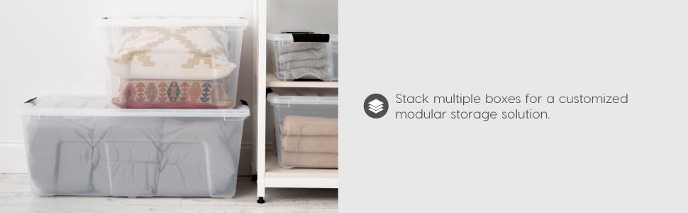 medium plastic box, medium storage containers, clear box, shoe box, accessory storage, slide storage
