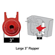 Korky 2021BP G Max Flapper For TOTO Toilet Repairs 3 Inch