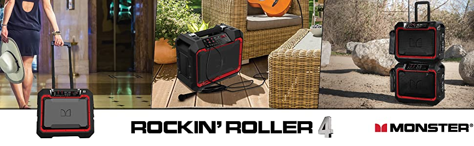 Monster Rockin Roller 4 | Outdoor Bluetooth Wireless Speaker