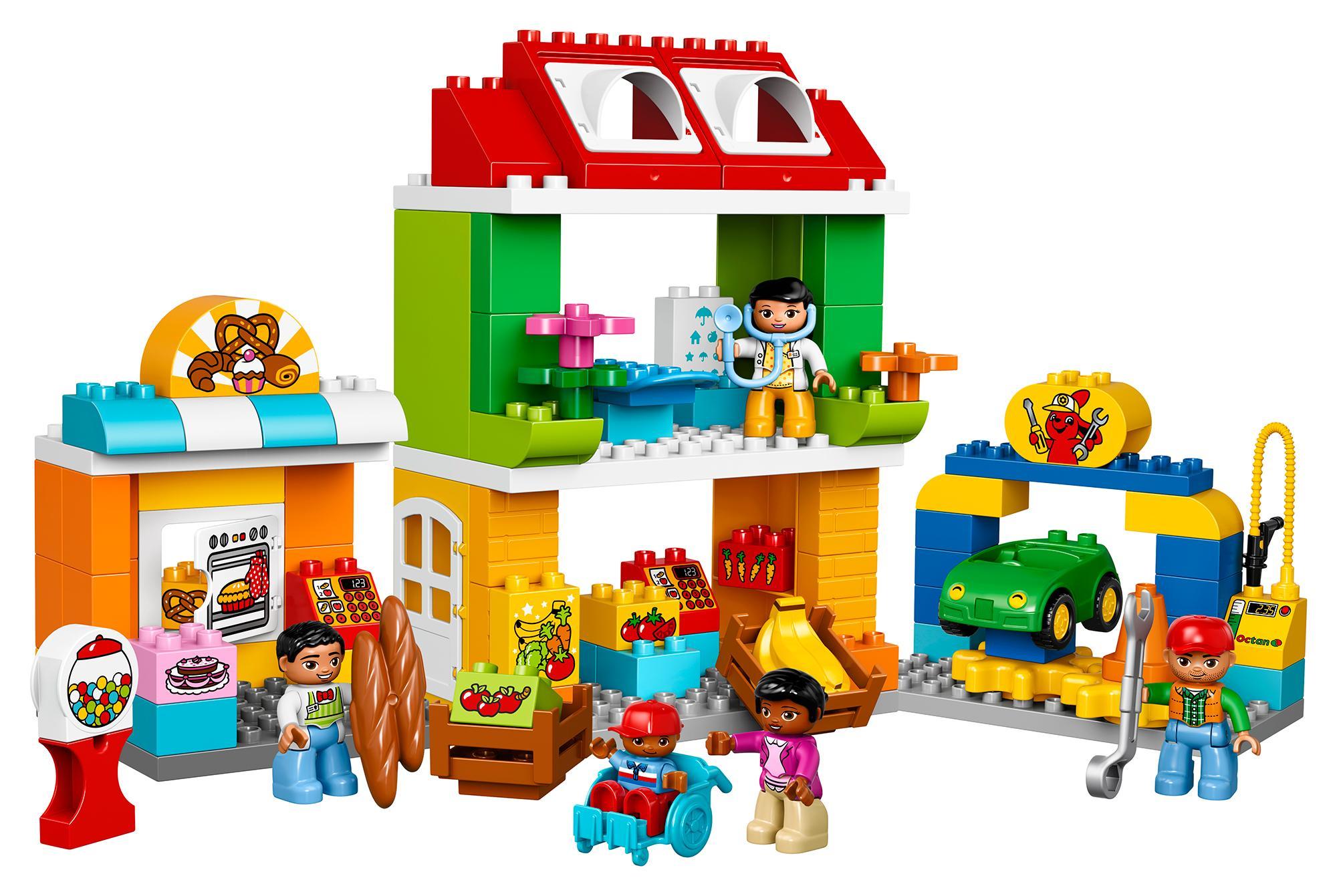 lego duplo 10836 stadtviertel spielzeug. Black Bedroom Furniture Sets. Home Design Ideas