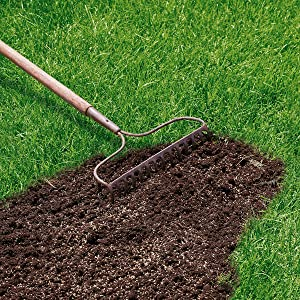 EverGreen Fast Grass Lawn Seed creating a new lawn of filling bare grass patches