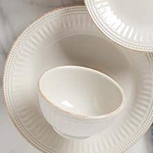 french perle, lenox, lenox dishes, lenox dishware, scalloped dishware, kitchenware