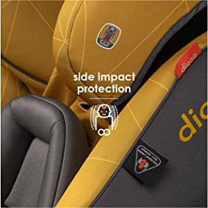 Safety from all angles with side impact protection...