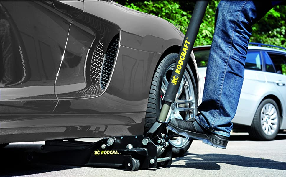 Wagenheber 2t zwei Tonnen Rodcraft Reifenwechsel