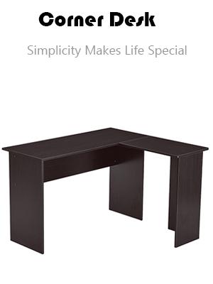 Corner Desk Gaming Desk L-Shaped Desk Computer Desk for Home Office Small Space Dark Brown