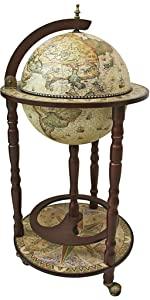 home décor alcohol serving replica antique globe bar cart crema durata cocktail table drink cabinet
