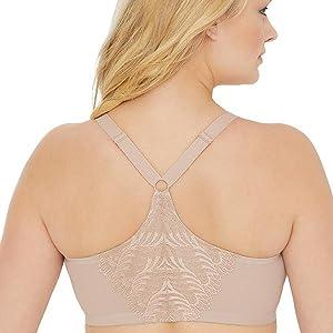 eb0322d6f0 Glamorise Women s Full Figure Front Close Lace T-Back Wonderwire Bra ...