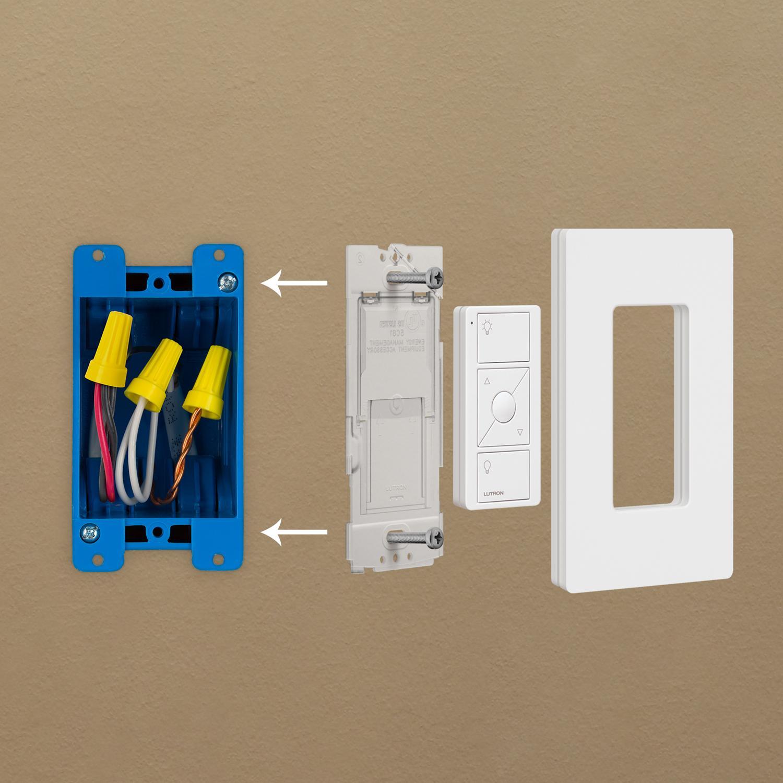 Lutron Caseta Wireless Smart Lighting Dimmer Switch And