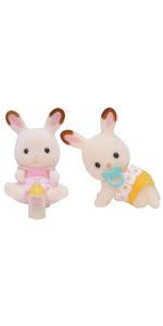 シルバニアファミリー 人形 ショコラウサギのふたごちゃん ウ-67