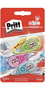 pritt micro roller pratici portapastelli correttori mini
