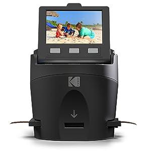 Kodak Digital Film Scanner, Converts 35mm, 126, 110, Super 8 and 8mm Film Negatives and Slides to JPEG Includes Large Tilt Up 3.5 LCD and EasyLoad Film Inserts 10
