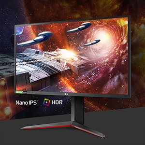 LG 27GN850-B - Monitor Gaming LG UltraGear (Panel IPS: 1920 x1080p, 16:9, 400 cd/m², 1000:1, 144Hz, 1 ms); DP x 1, HDMI x 2, USB-A x 3; G-Sync Compatible, regulable en altura