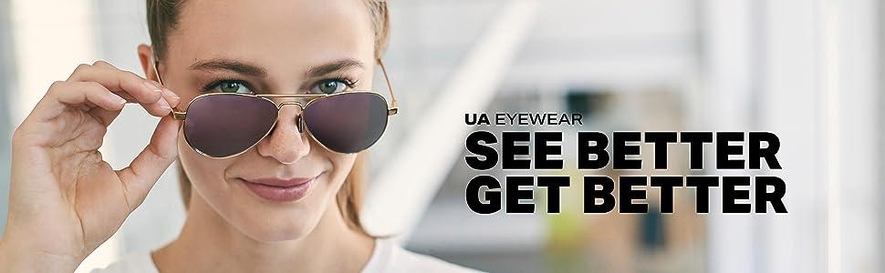 3f170266c84 Amazon.com  Under Armour Round Sunglasses UA SCHEME GLOSS CRYSTAL ...