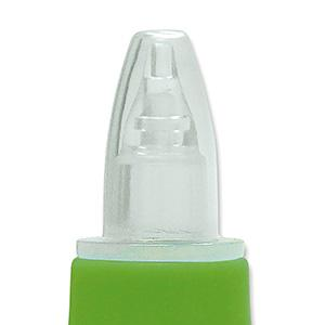 baby nose aspirator, travel snot sucker, baby nose suction, green, clear, mucus, boogers