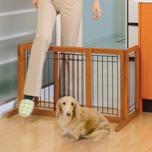 pet gate, dog gate, safety gate, wood gate, pet gate for small dog, freestanding gate