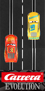 Carrera Evolution Analog Slot Car Racing Race Track Sets System 1:24 Scale Track and 1:32 Scale Cars