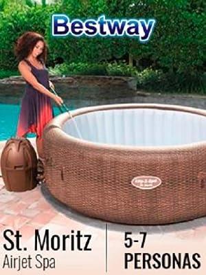 Bestway 54175 - Spa Hinchable Lay- Z-Spa St. Moritz Para 5-7 personas: Amazon.es: Jardín