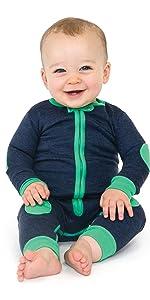 sleepsie velor long sleeve romper baby pajamas PJs