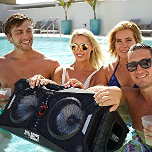 Floating;Float;Pool:Speaker;bluetooth;Beach;party;bass;ultimate;strobe;battery;ip67;loudest;biggest