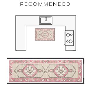 momeni anatolia rug chic design graphic modern carpet geometric casual tribal pink floral