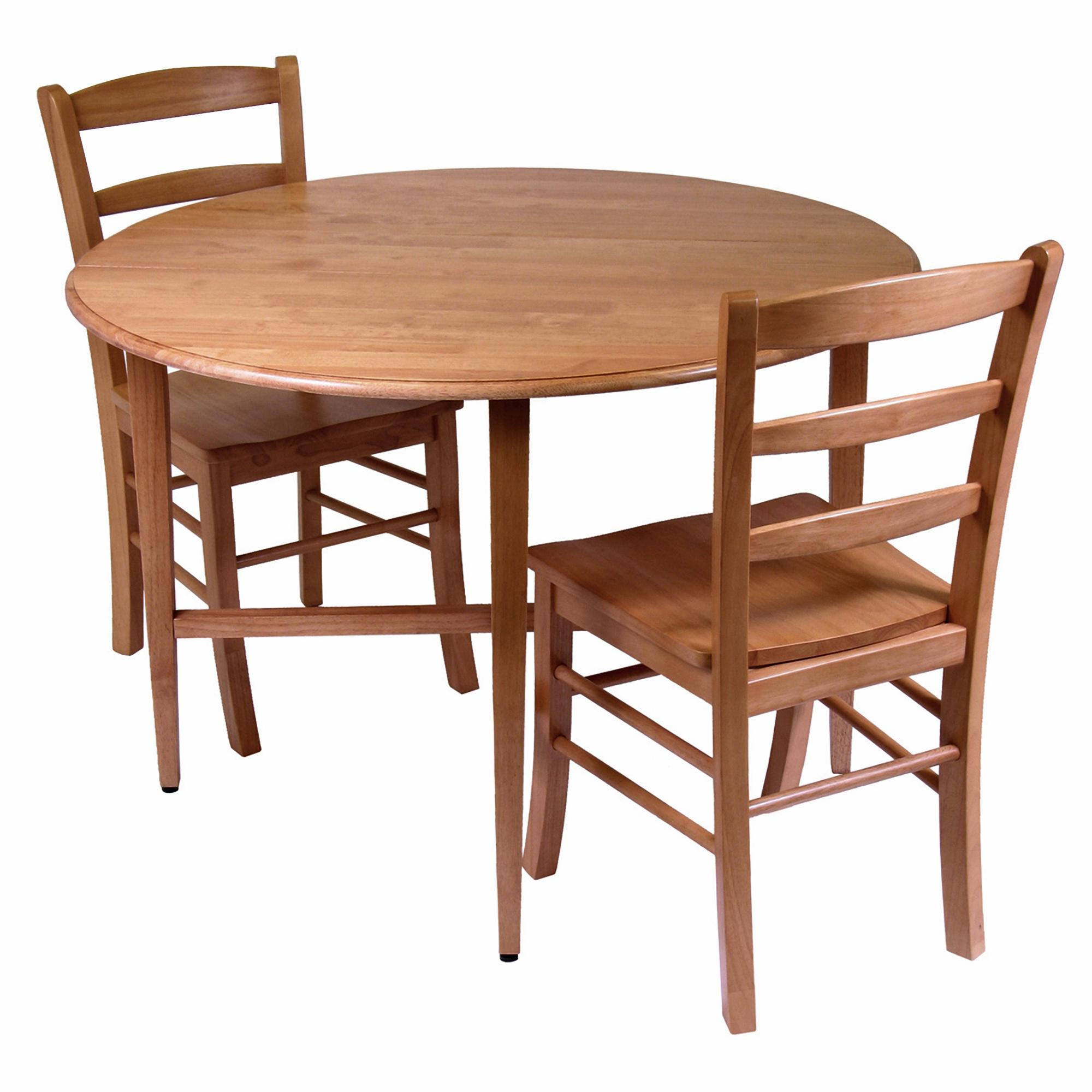 Dining Table With Two Chairs: Winsome Hannah Dining Set, Drop Leaf Table