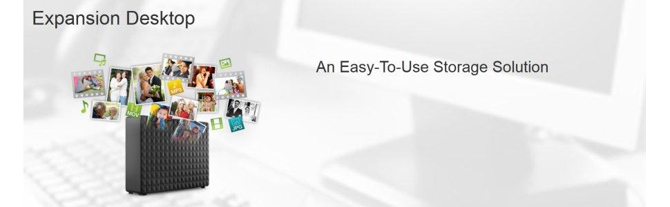 Seagate Expansion Desktop External Hard Drive Computers Accessories