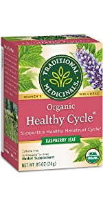 Traditional Medicinals Organic Healthy Cycle Raspberry Women's Tea