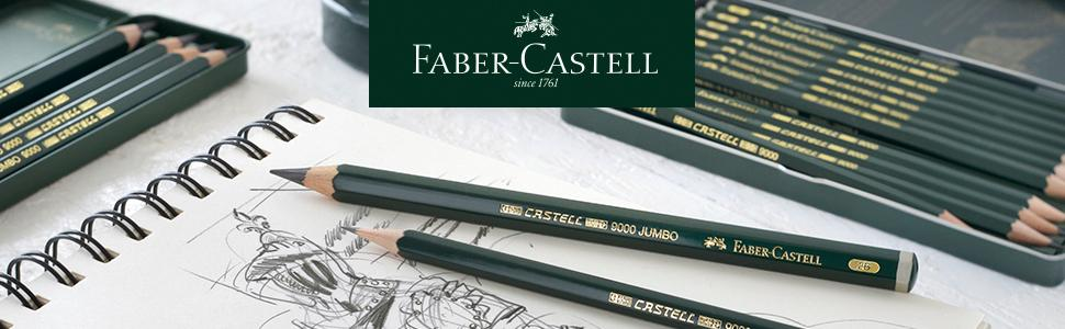 Faber-Castell B-9000-2B-2 - Blíster con 2 lápices de grafito Castell 9000, graduación 2B: Amazon.es: Oficina y papelería