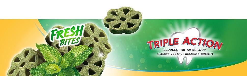 Reduces Tartar Buildup; Cleans teeth; Freshens breath; Pedigree DentaStix
