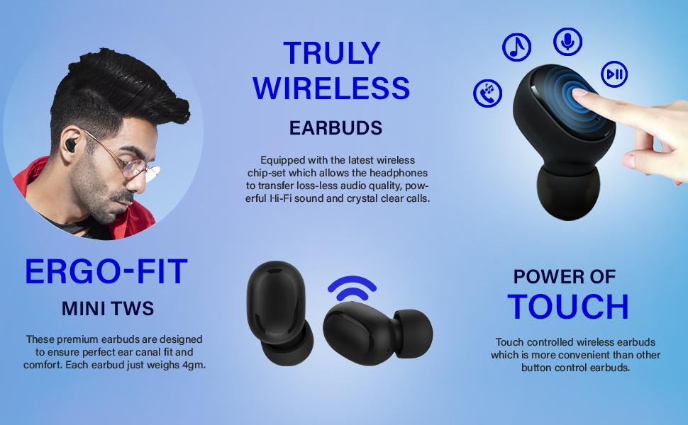 Bassbuds Pro Wireless Earphones TWS