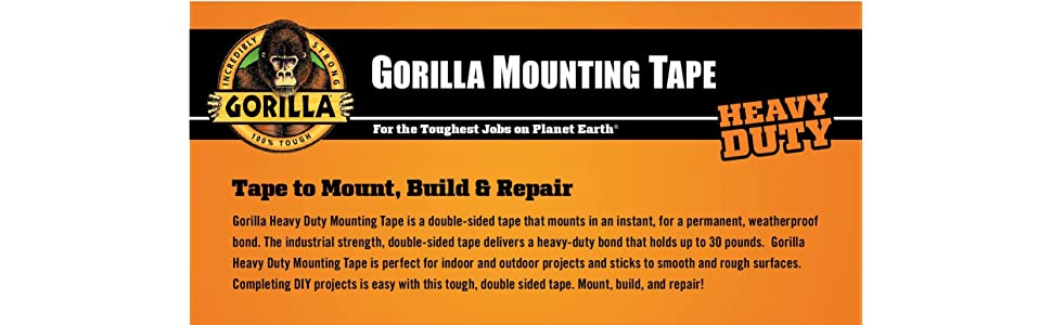 Gorilla Heavy Duty Mounting Tape Double Sided 1 Quot X 60