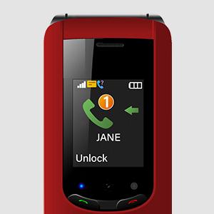 external flip phone screen