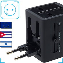 wall charger AC power plug adapter for phones mobiles and laptop dual USB charging built in safety