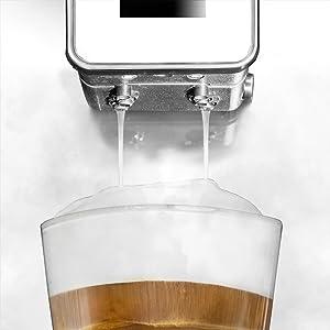 Cecotec Cafetera Espresso Power Matic-ccino 8000 Touch Serie Bianca. Tecnología ForceAroma de 19 bares de presión, Pantalla Táctil, 6 Modos ...