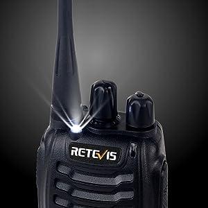 walkie talkies with flashlight