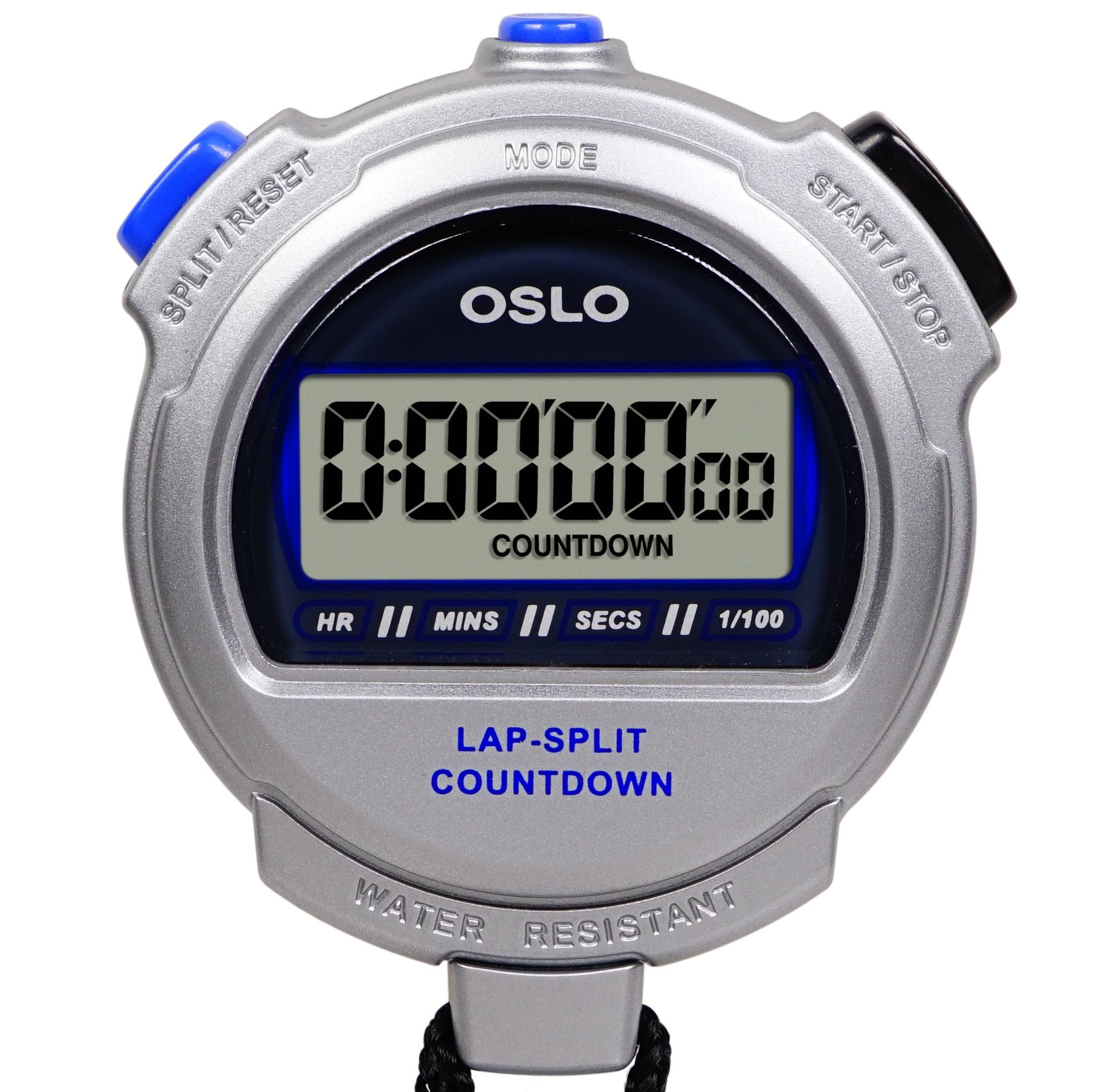amazon com oslo silver 2 0 twin stopwatch and countdown timer