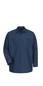 long sleeve work shirt, automotive long sleeve shirt, red kap long sleeve work shirt