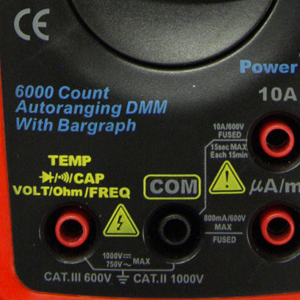 digital mutimeter with over-voltage protection