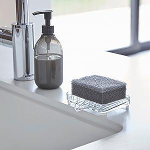 山崎実業 石鹸置き 水が流れる ソープトレー ヴェール