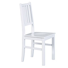 Bois massif, hêtre, salle à manger, chaise de salle à manger, blanc, bois, cuisine, maison de campagne, chaise de cuisine.